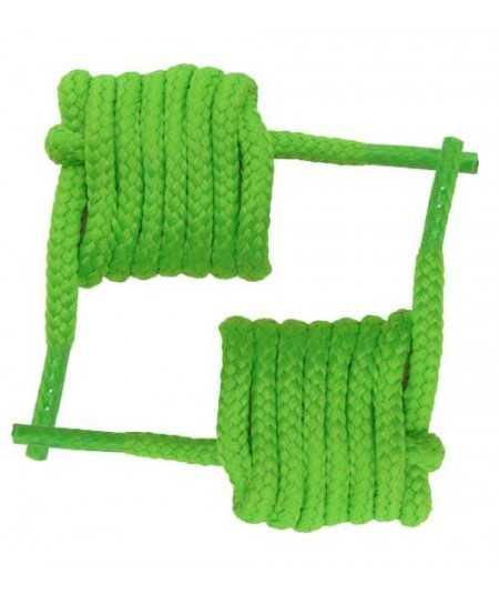 Cordón redondo grueso de 60 cm. color verde fluor