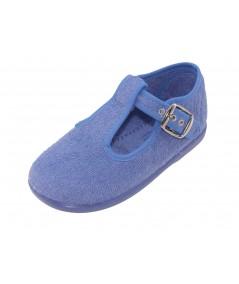Pepito de toalla con hebilla de color azul