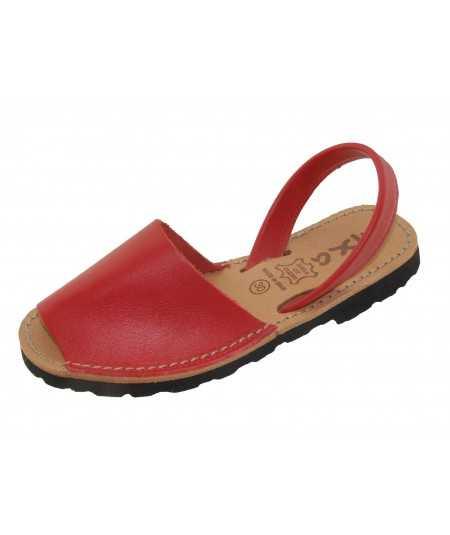 Sandalia abarcas menorquina artesana en color rojo