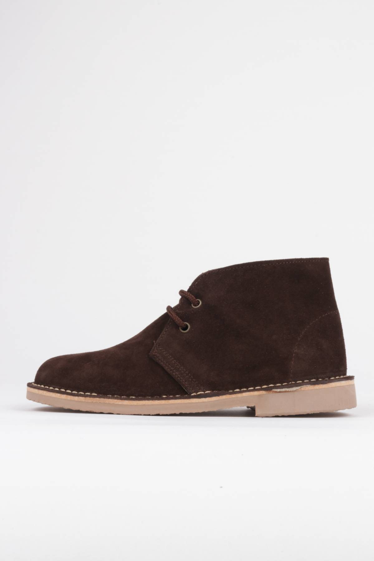Brown desert boots lace-up