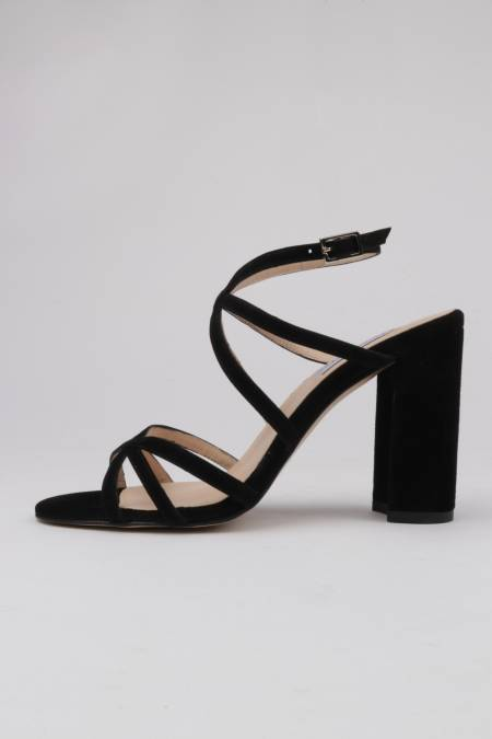 Dress sandals black suede...