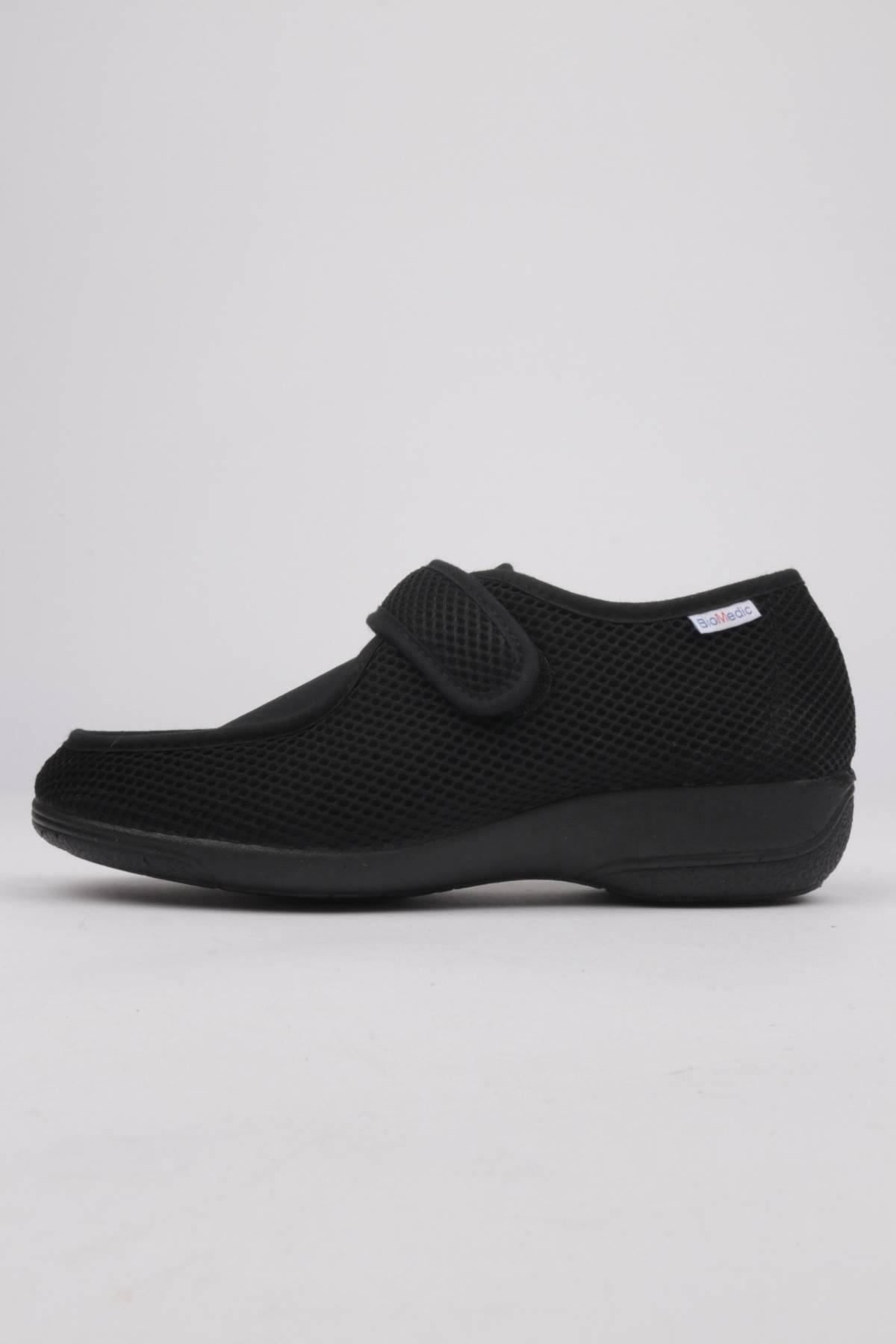 Zapatillas ancho especial tejido regilla negro