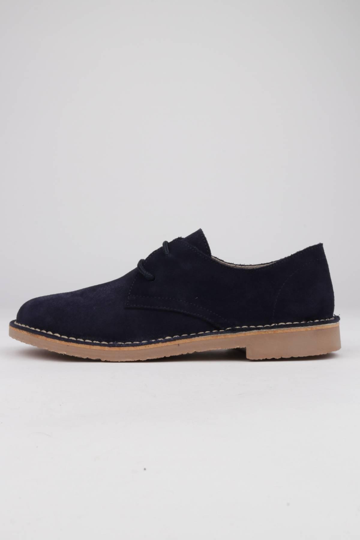 Lace-up shoes blue suede - SHOES DESERT