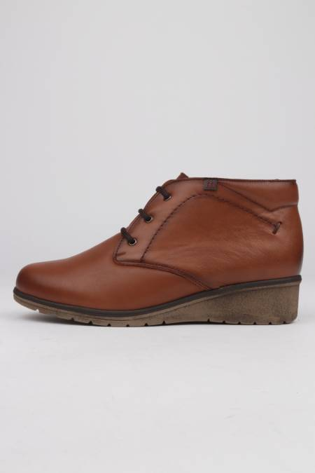 Light brown leather ankle...