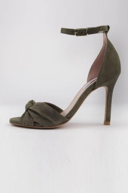 Kakhi suede high heel...