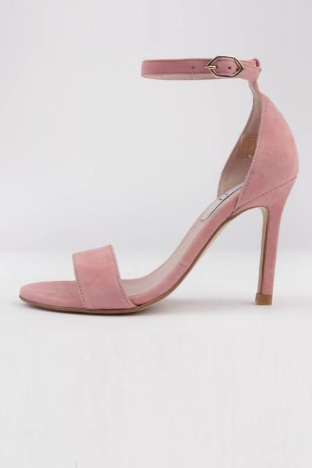Heel dress sandals pink suede