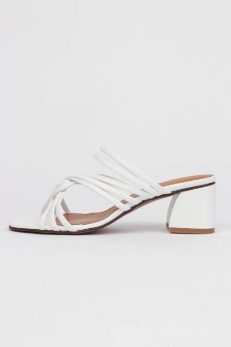 White heel sandals thin...