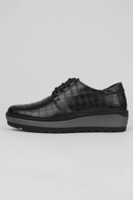Black lace-up shoes leather...