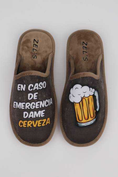 Men's slippers 'Give me beer'