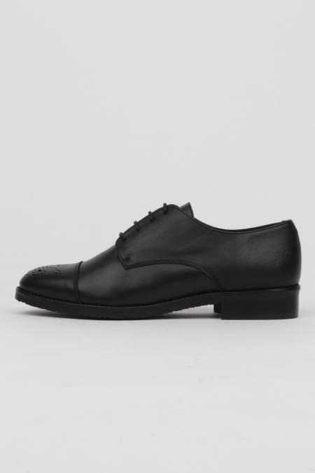 Black lace-up woman shoes...