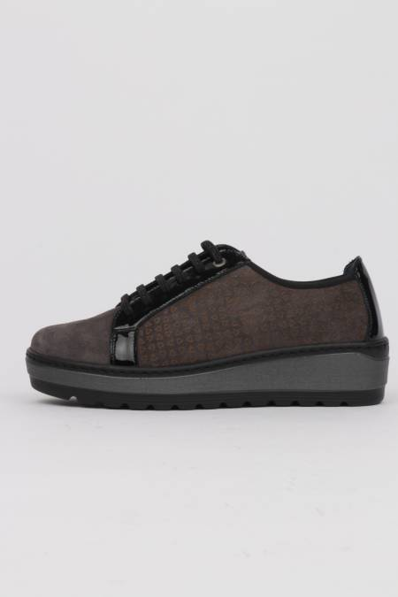 Women's gray lace-up shoes...