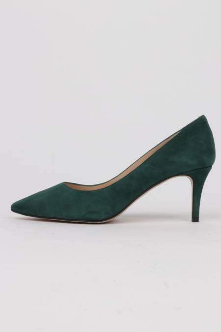 Khaki green suede stilettos...