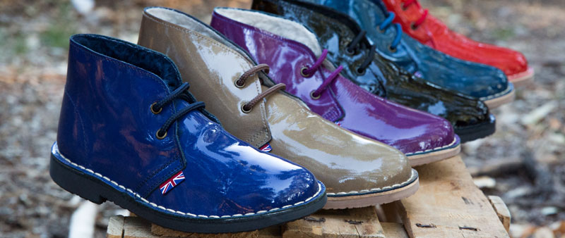 Desert boots patent leather colors