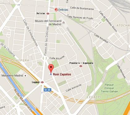 Mapa de localización de Calzados Rosi Muestrarios (Embajadores)