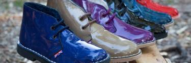 Patent leather desert boots, the most colorful woman ankle boots